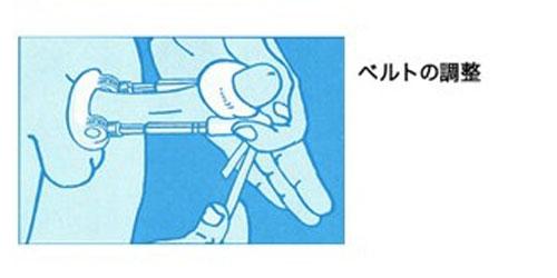牽引型ペニス増大器具付け方5